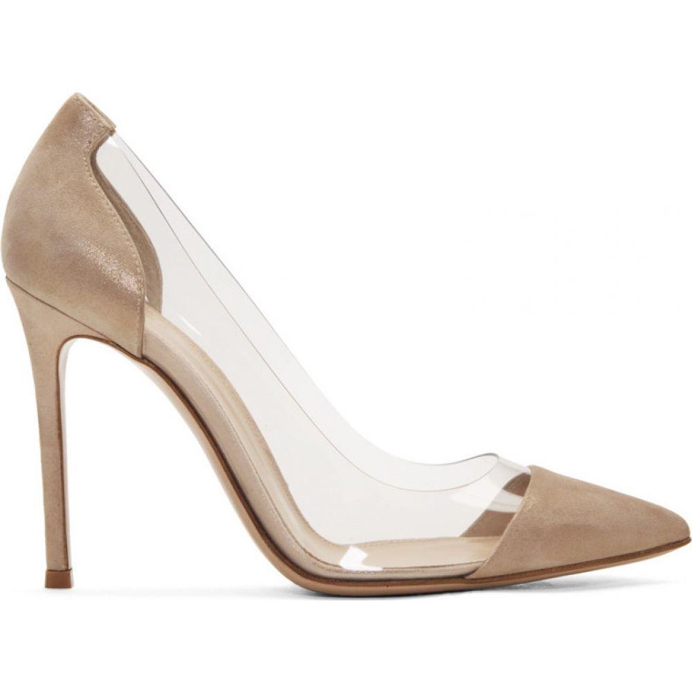 ジャンヴィト ロッシ Gianvito Rossi レディース ヒール シューズ・靴【Pink Suede Oil Plexi 105 Heels】Oil rosa