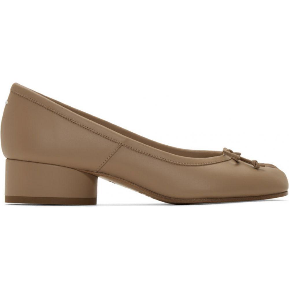 メゾン マルジェラ Maison Margiela レディース ヒール シューズ・靴【Beige Tabi Ballerina Heels】Champagne