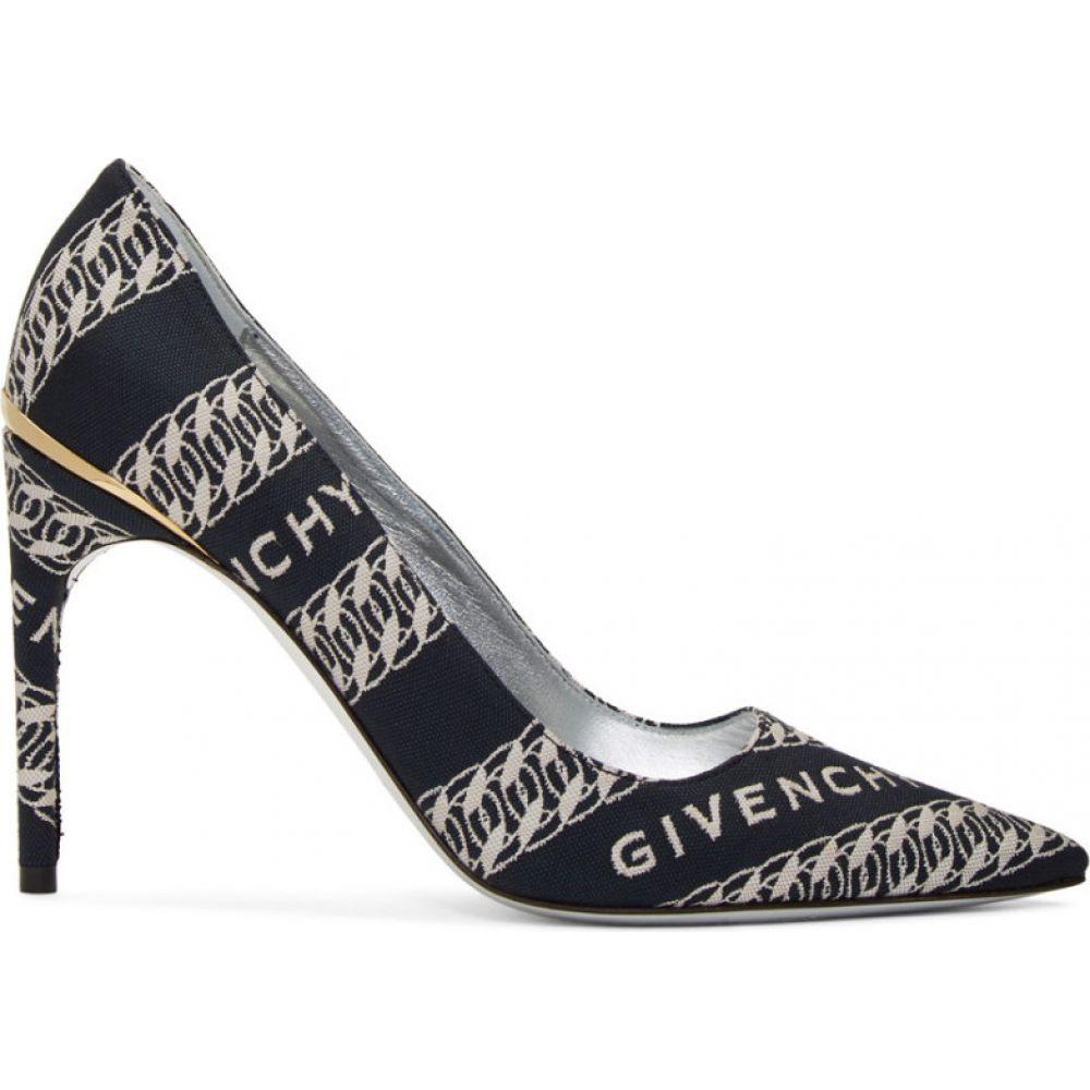ジバンシー Givenchy レディース ヒール シューズ・靴【Navy & White Chain M Heels】Navy/White