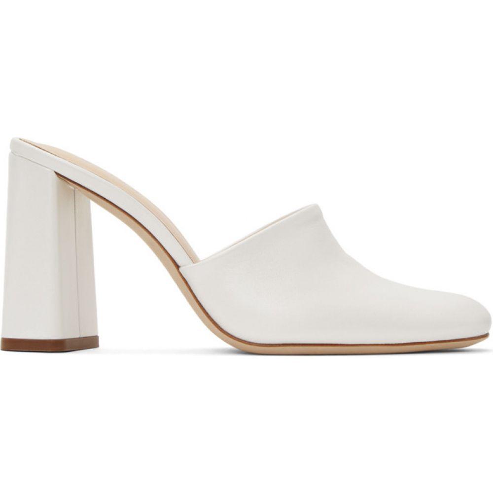 バイ ファー BY FAR レディース サンダル・ミュール シューズ・靴【White Nina Mules】White pearl