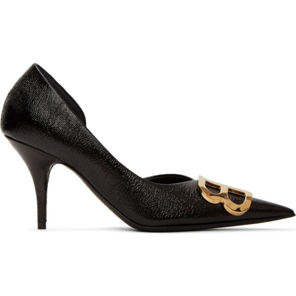 バレンシアガ Balenciaga レディース ヒール シューズ・靴【Black 'BB' D'Orsay Heels】Black