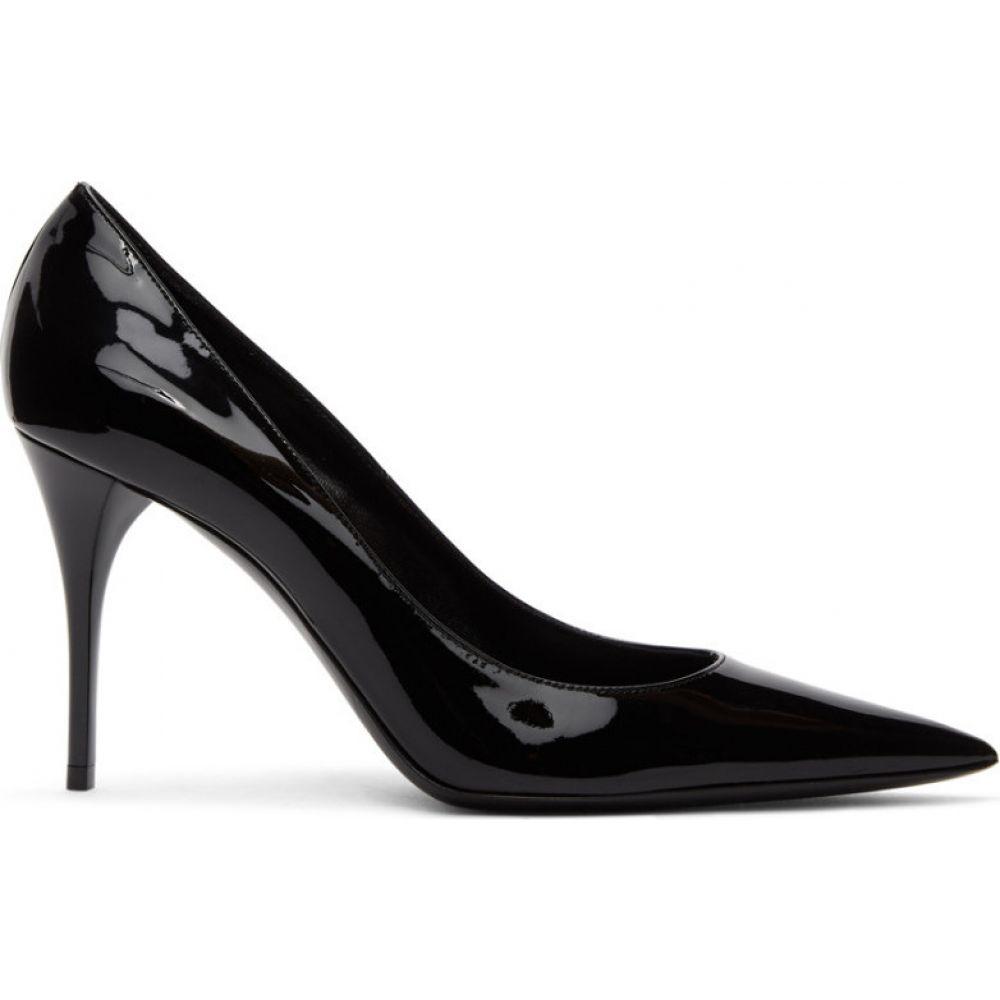 イヴ サンローラン Saint Laurent レディース ヒール シューズ・靴【Black Patent Lexi 90 Heels】Black