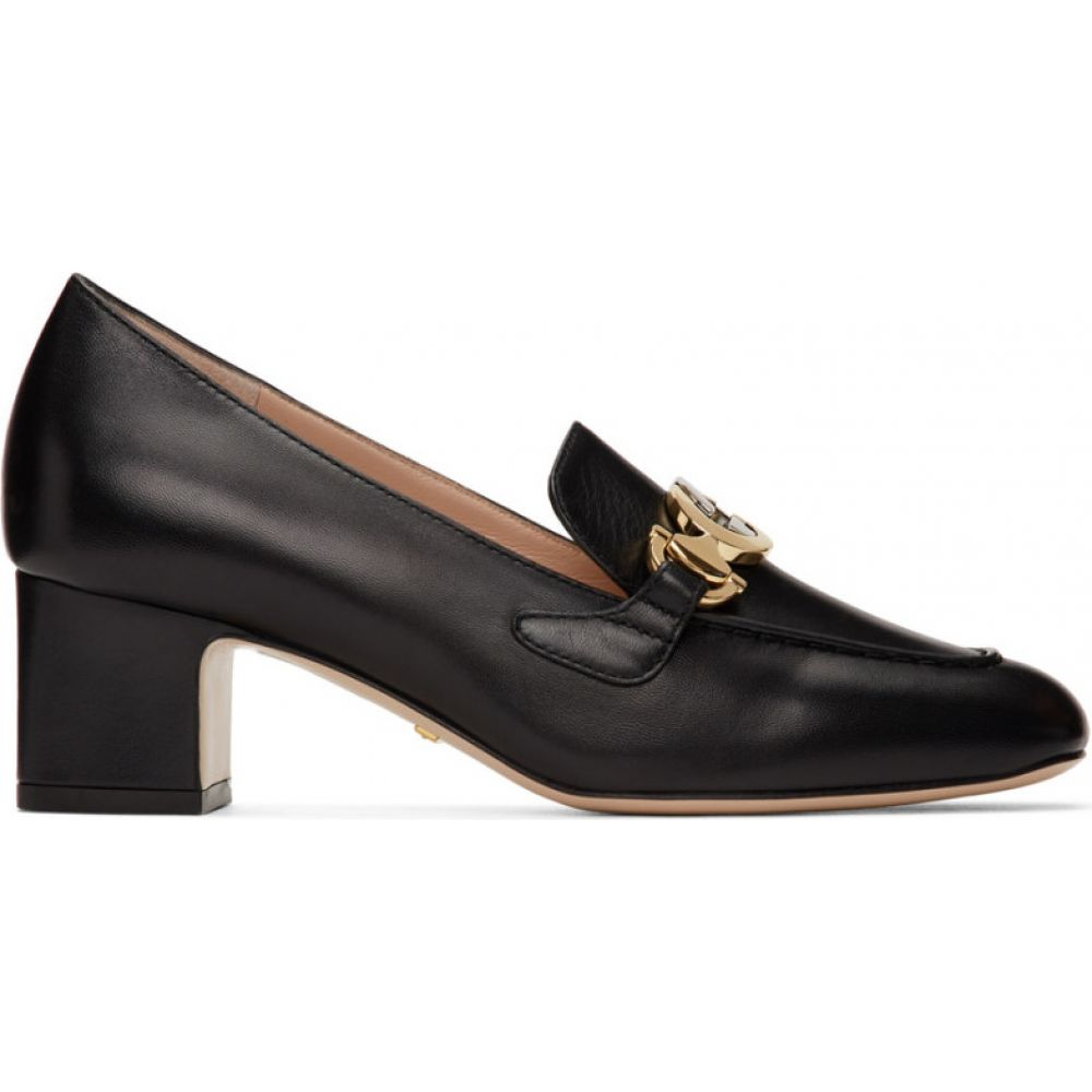グッチ Gucci レディース ローファー・オックスフォード シューズ・靴【Black Zumi Mid-Heel Loafers】Black
