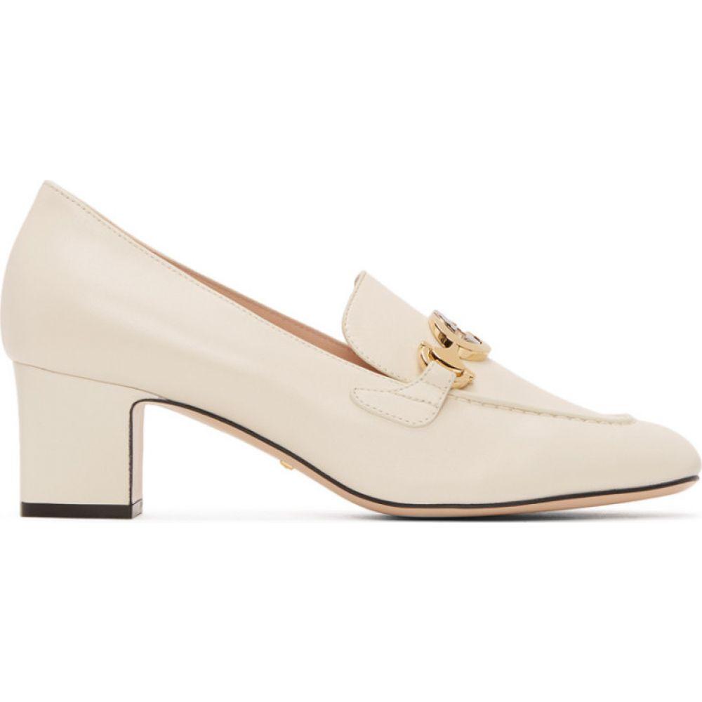 グッチ Gucci レディース ローファー・オックスフォード シューズ・靴【White Zumi Mid-Heel Loafers】White