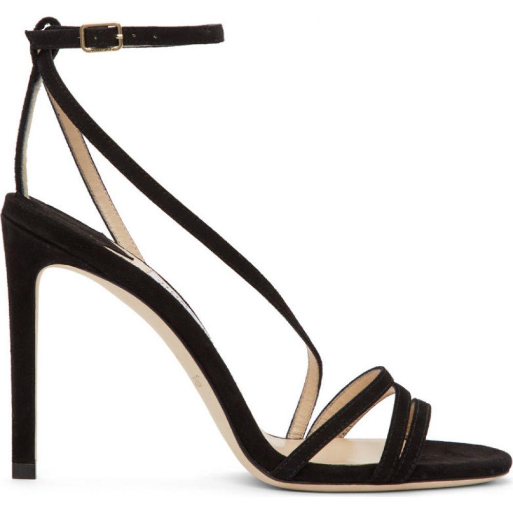 ジミー チュウ Jimmy Choo レディース サンダル・ミュール シューズ・靴【Black Suede Tesca 100 Sandals】Black