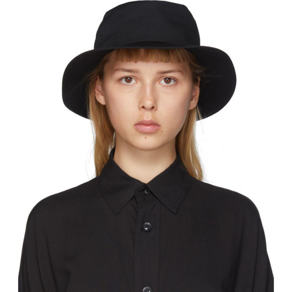 ヨウジヤマモト Yohji Yamamoto レディース ハット 帽子【Black Croche Gather Hat】Black