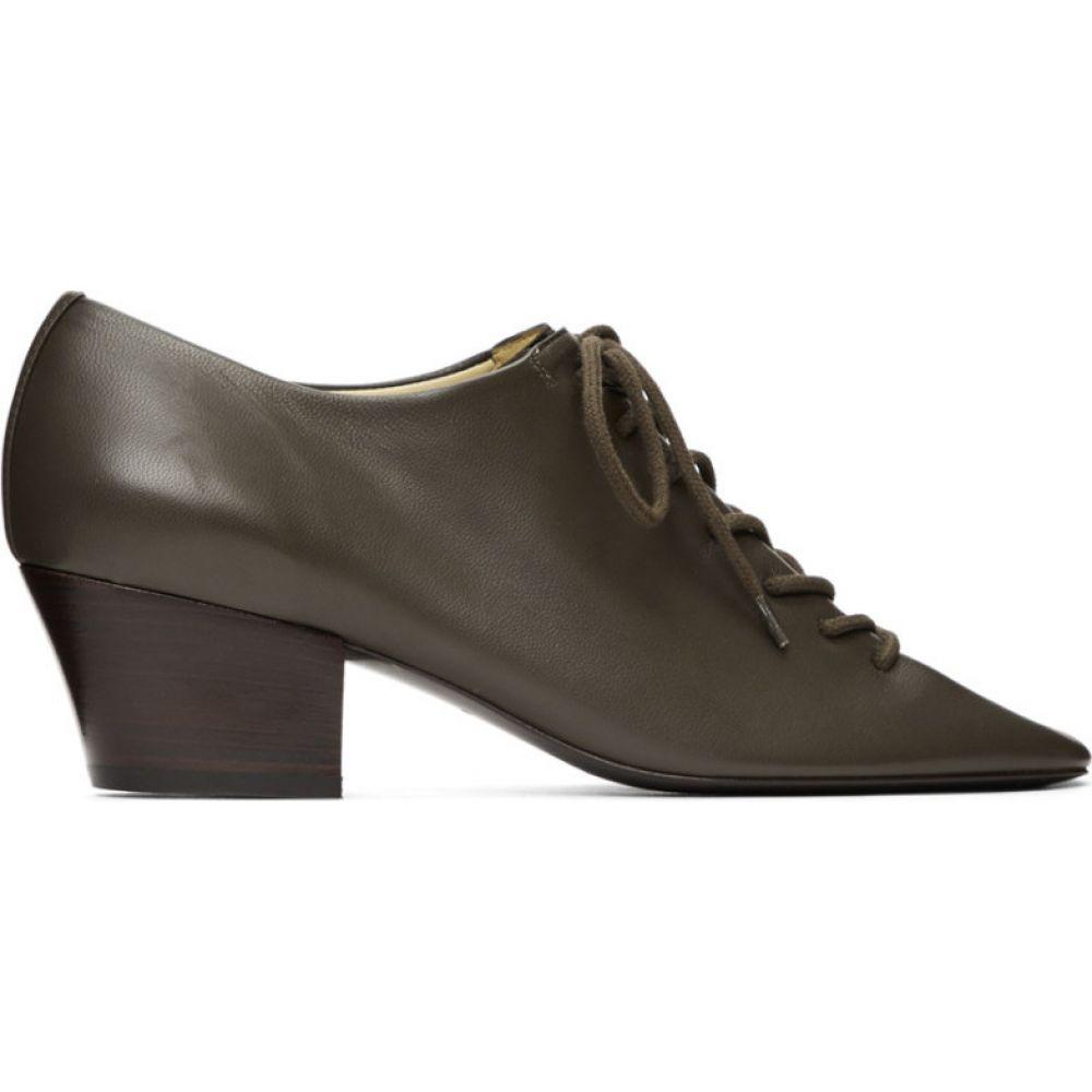 ルメール Lemaire レディース ローファー・オックスフォード シューズ・靴【Grey Heeled Derbys】Anthracite