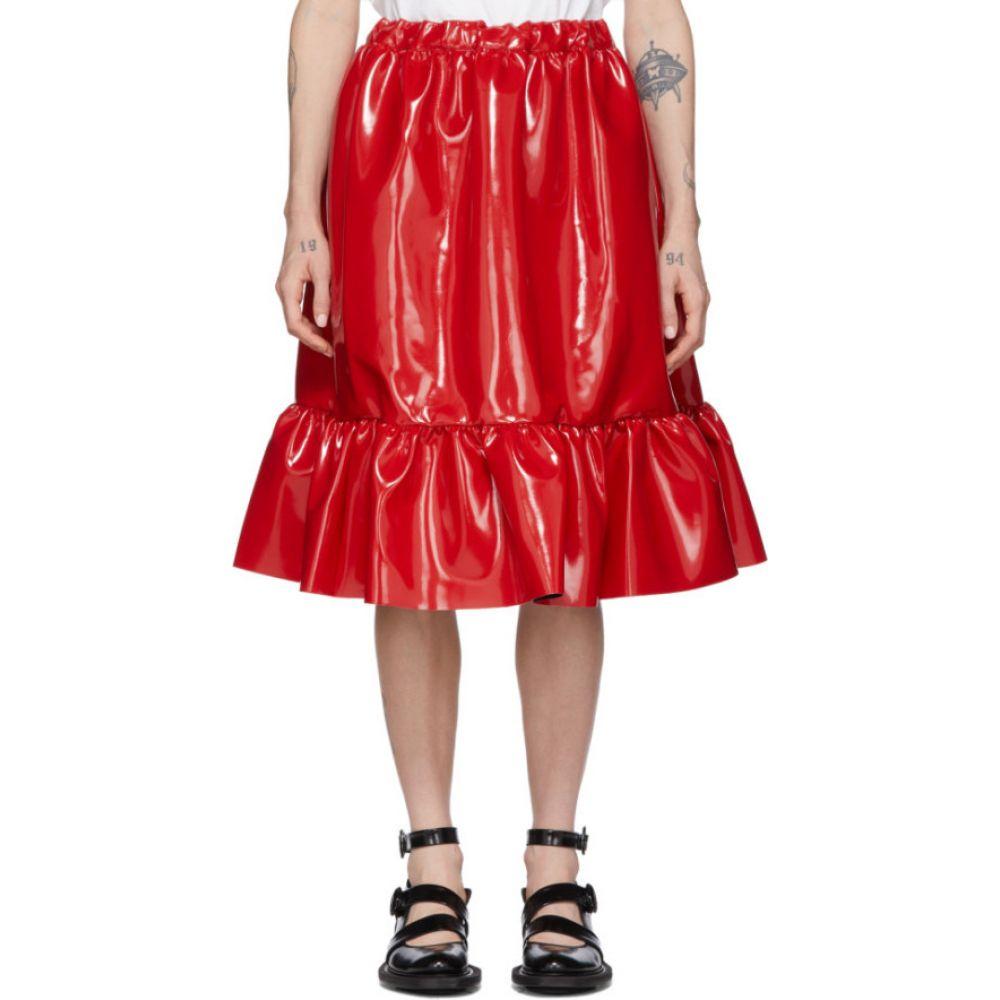 コム デ ギャルソン Comme des Garcons Girl レディース ひざ丈スカート スカート【Red Patent Faux-Leather Skirt】Red