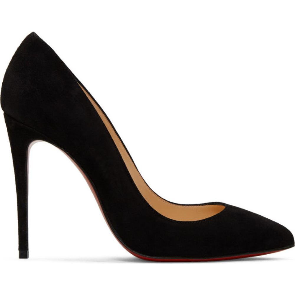 クリスチャン ルブタン Christian Louboutin レディース ヒール シューズ・靴【Black Suede Pigalle Heels】Black