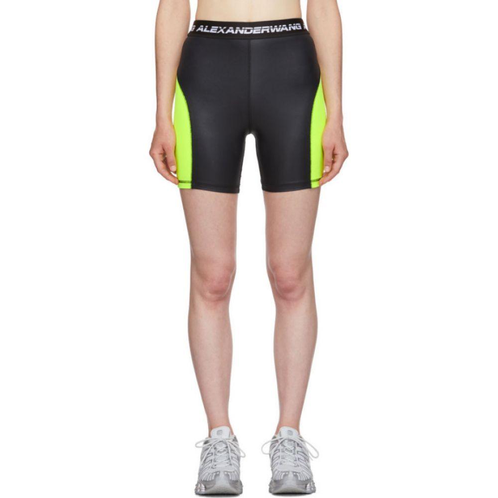 アレキサンダー ワン alexanderwang.t レディース ショートパンツ ボトムス・パンツ【Black & Yellow Logo Elastic Wash & Go Biker Shorts】Zest/Black