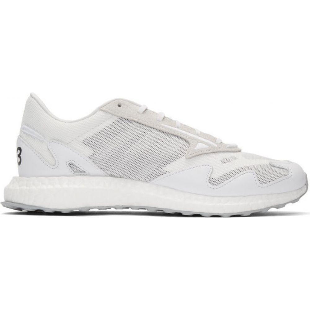 ワイスリー Y-3 レディース スニーカー シューズ・靴【White Rhisu Run Sneakers】Supplier color
