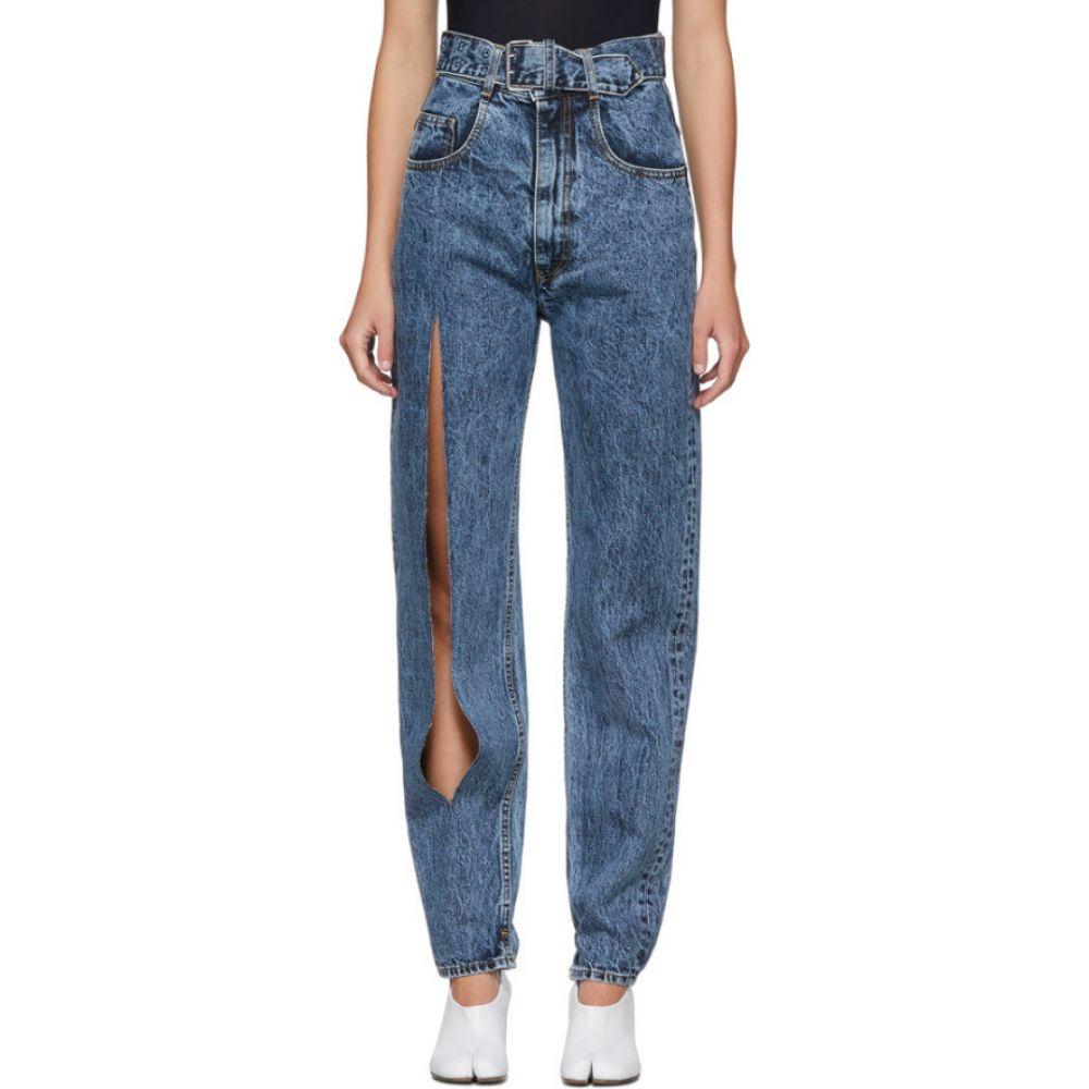 メゾン マルジェラ Maison Margiela レディース ジーンズ・デニム ボトムス・パンツ【Blue Leg Slit Jeans】Blue denim