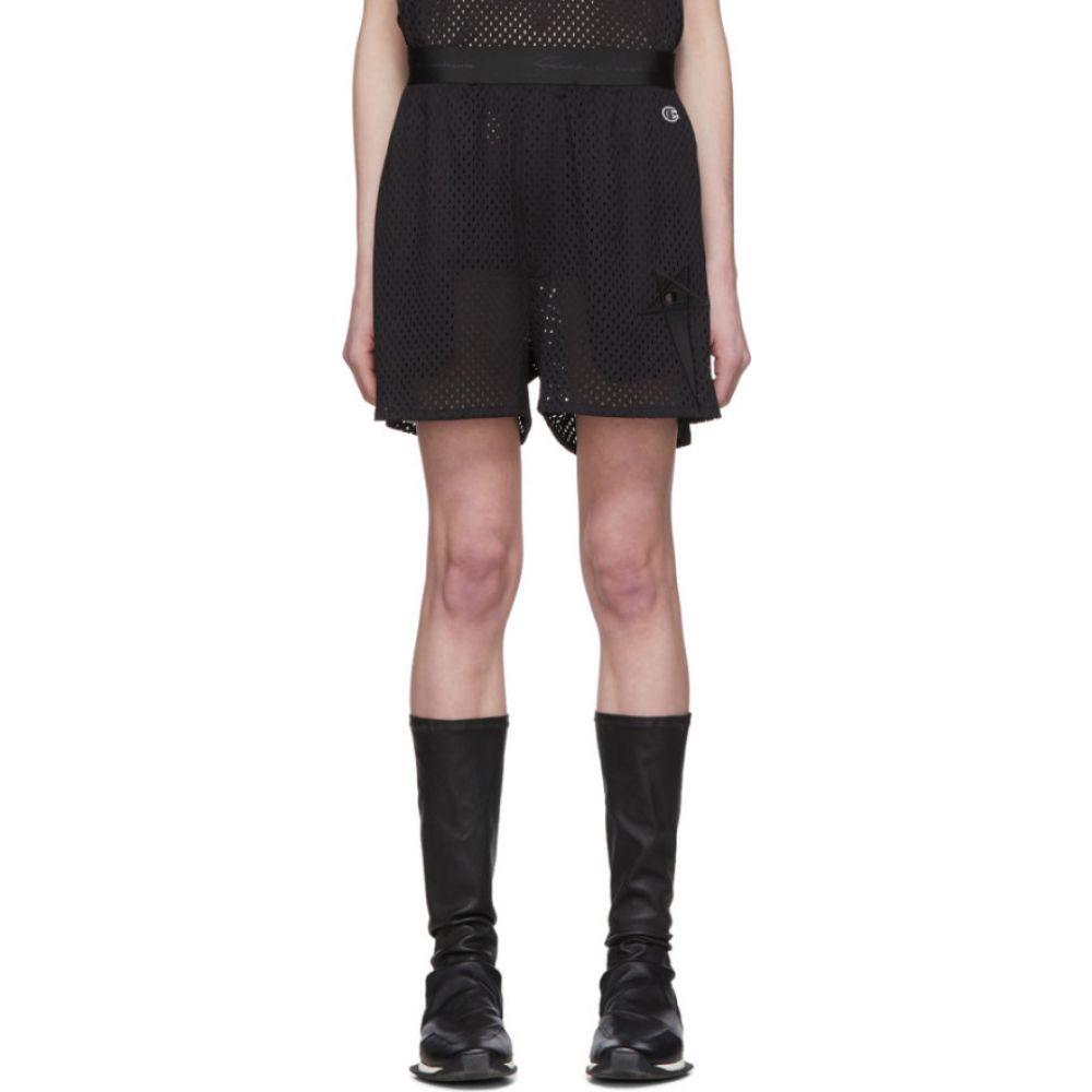 リック オウエンス Rick Owens レディース バスケットボール ショートパンツ ボトムス・パンツ【Black Champion Edition Mesh Basketball Shorts】Black