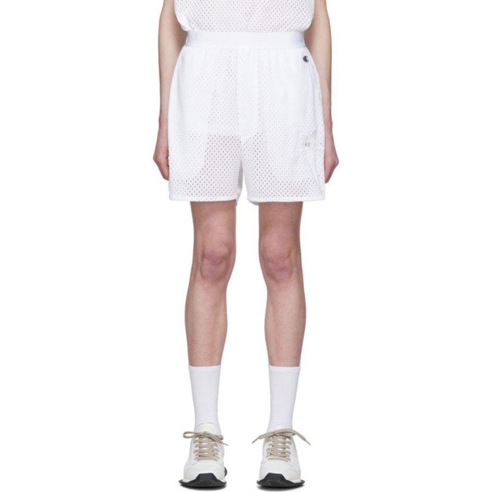 リック オウエンス Rick Owens レディース バスケットボール ショートパンツ ボトムス・パンツ【White Champion Edition Mesh Basketball Shorts】Milk