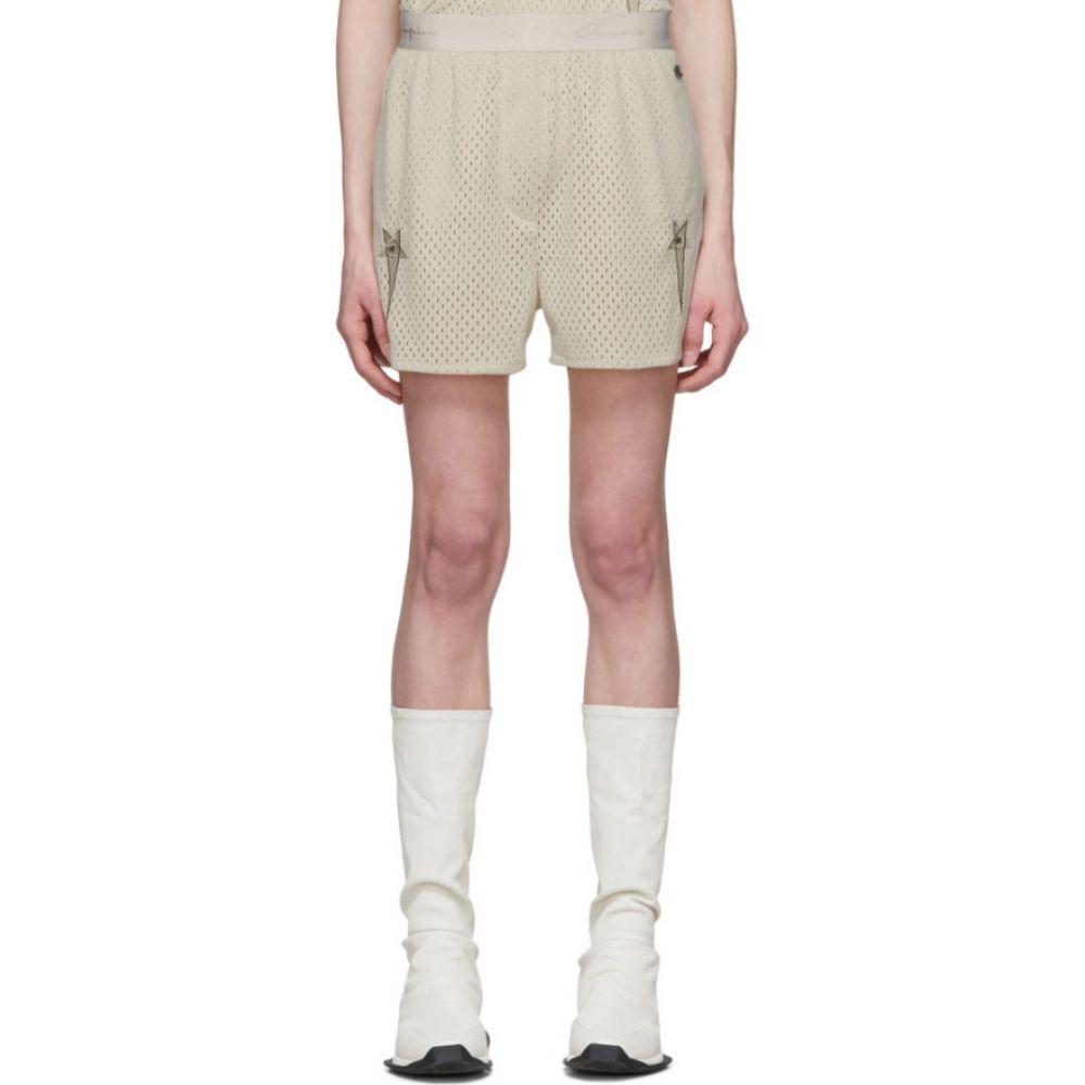 リック オウエンス Rick Owens レディース ショートパンツ ボクサーショーツ ボトムス・パンツ【Off-White Champion Edition Mesh Dolphin Boxer Shorts】Pearl