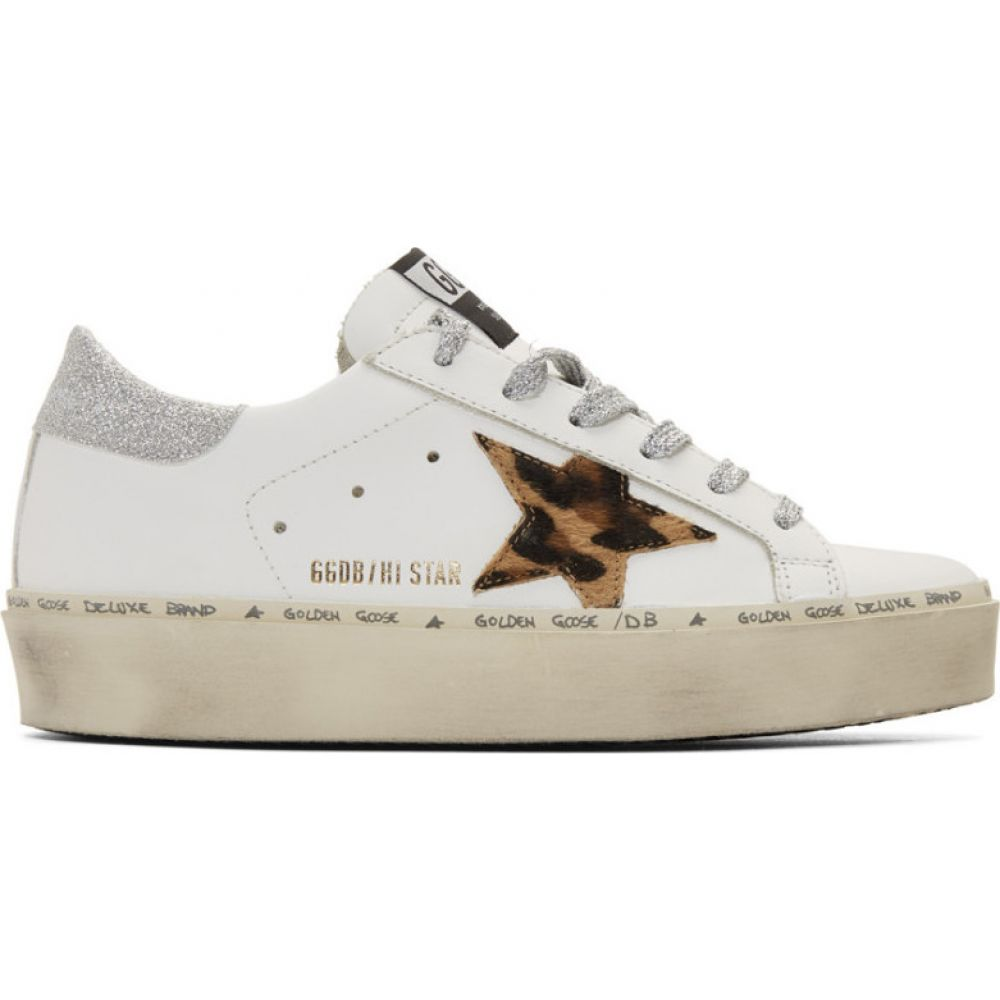 ゴールデン グース Golden Goose レディース スニーカー シューズ・靴【White & Silver Leopard Lurex Hi Star Sneakers】White leather/Leopard/Lurex