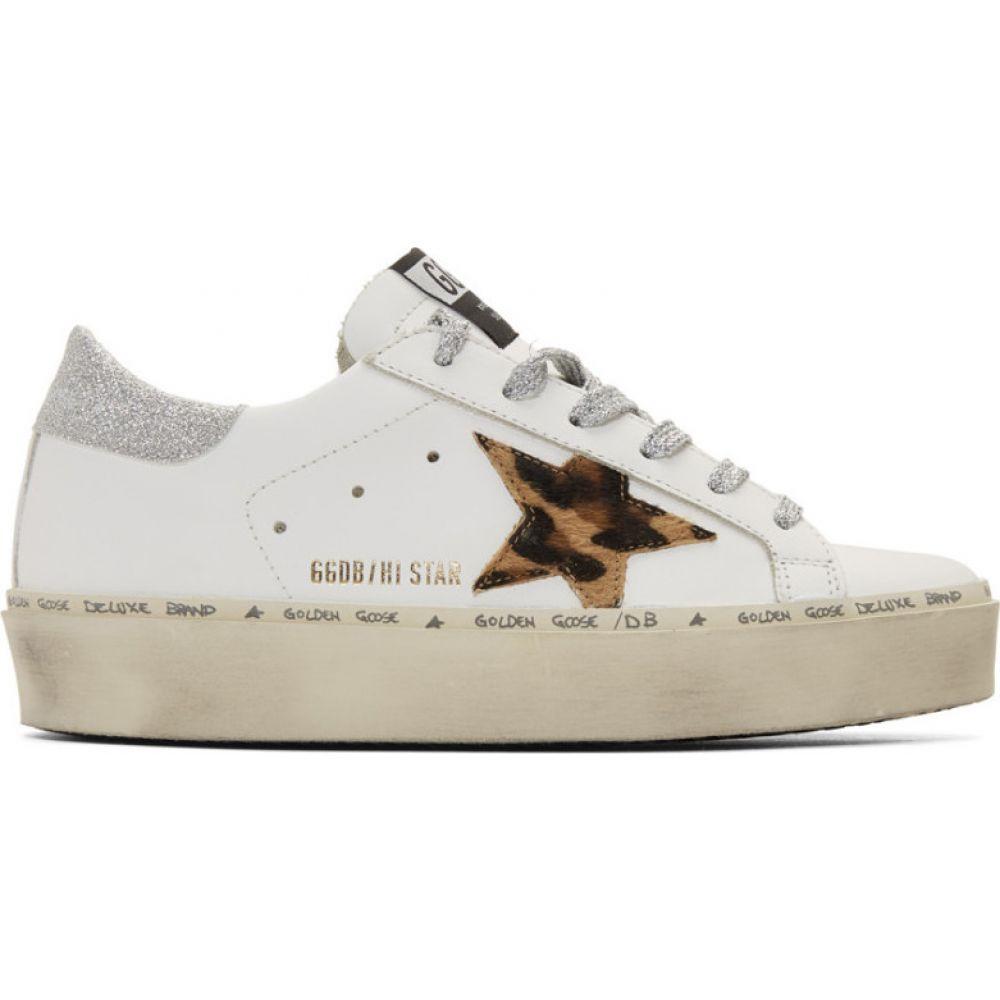 ゴールデン グース Golden Goose レディース スニーカー シューズ・靴【White & Silver Leopard Lurex Hi Star Sneakers】White leather/Leopard/Lurex