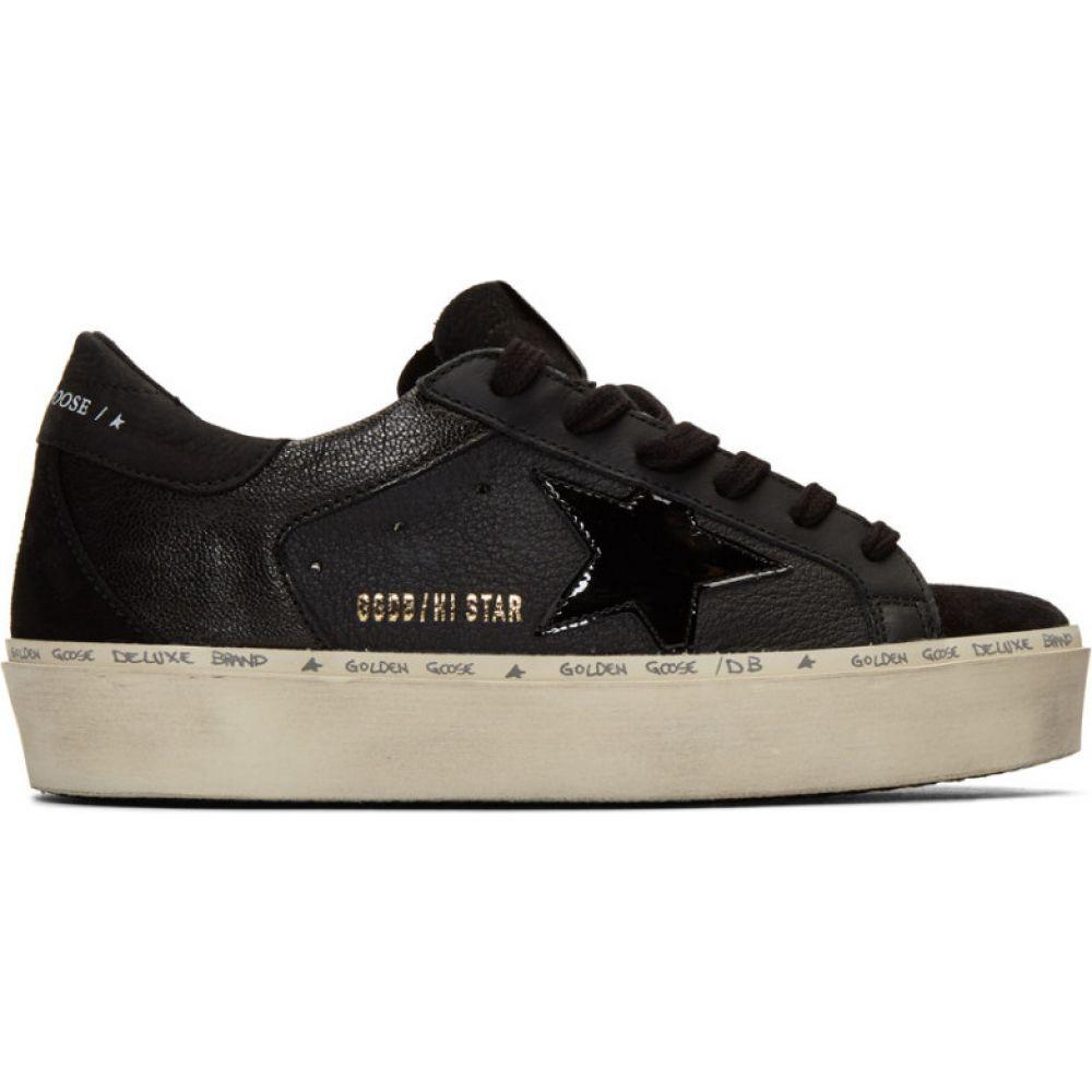 ゴールデン グース Golden Goose レディース スニーカー シューズ・靴【Black Hi Star Sneakers】Black nubuck/Black patent star