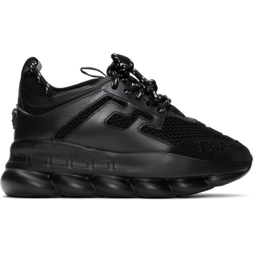 ヴェルサーチ Versace レディース スニーカー シューズ・靴【Black Chain Reaction Sneakers】Black