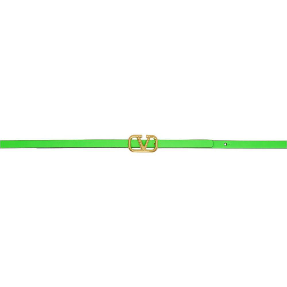 ヴァレンティノ Valentino レディース ベルト 【Green Garavani VLogo Belt】Green