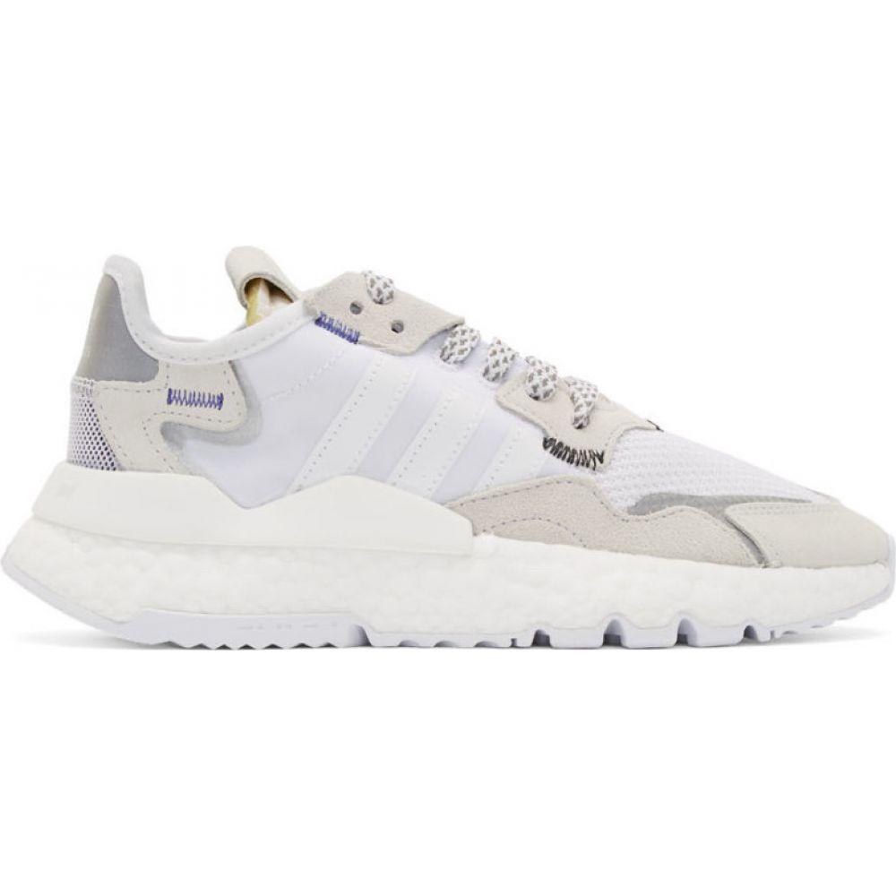 アディダス adidas Originals レディース スニーカー シューズ・靴【White 3M Edition Nite Jogger Sneakers】Cloud white/Cloud white/Cloud white