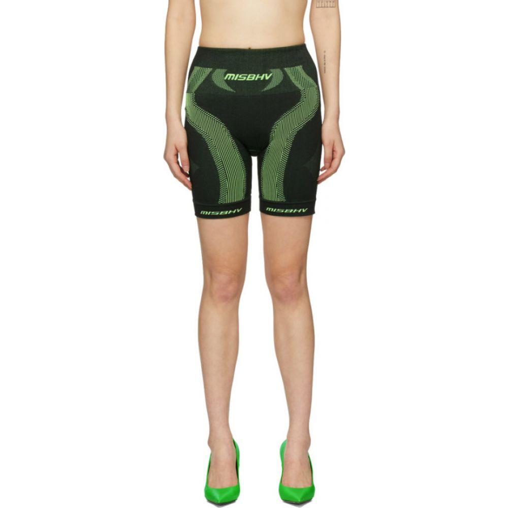 ミスビヘイブ MISBHV レディース ショートパンツ ボトムス・パンツ【Black & Green Active Sport Shorts】Black/Green