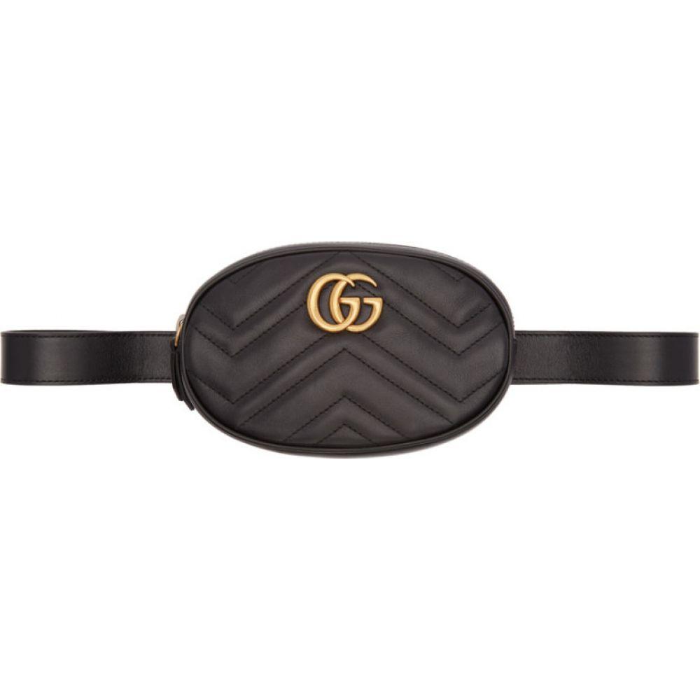 グッチ Gucci レディース ボディバッグ・ウエストポーチ バッグ【Black GG Marmont 2.0 Belt Bag】