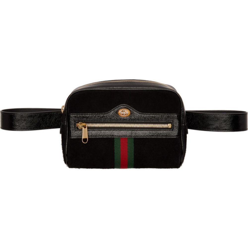 グッチ Gucci レディース ボディバッグ・ウエストポーチ バッグ【Black Suede Ophidia Belt Bag】