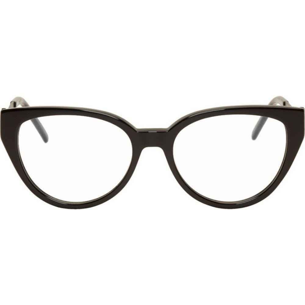 イヴ サンローラン Saint Laurent レディース メガネ・サングラス 【Black Cat-Eye Crystal Glasses】Black