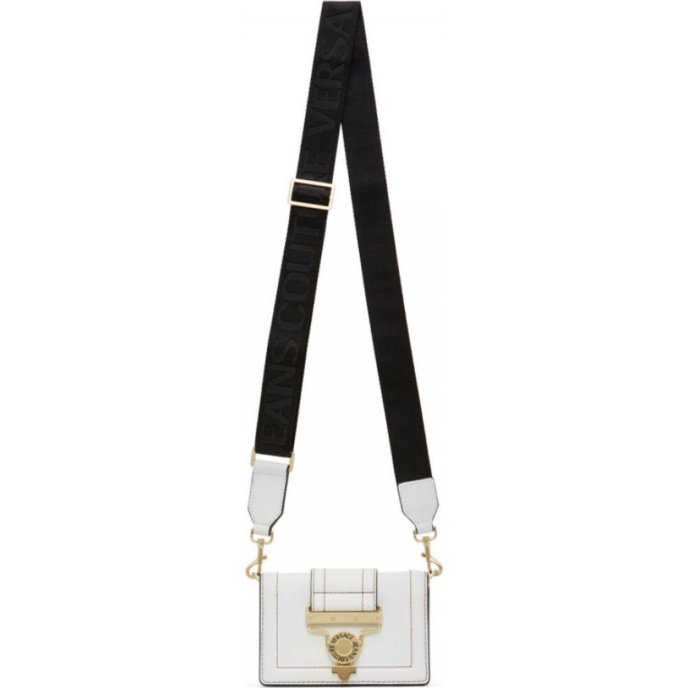 ヴェルサーチ Versace Jeans Couture レディース ボディバッグ・ウエストポーチ バッグ【White Salopette Buckle Belt Bag】White