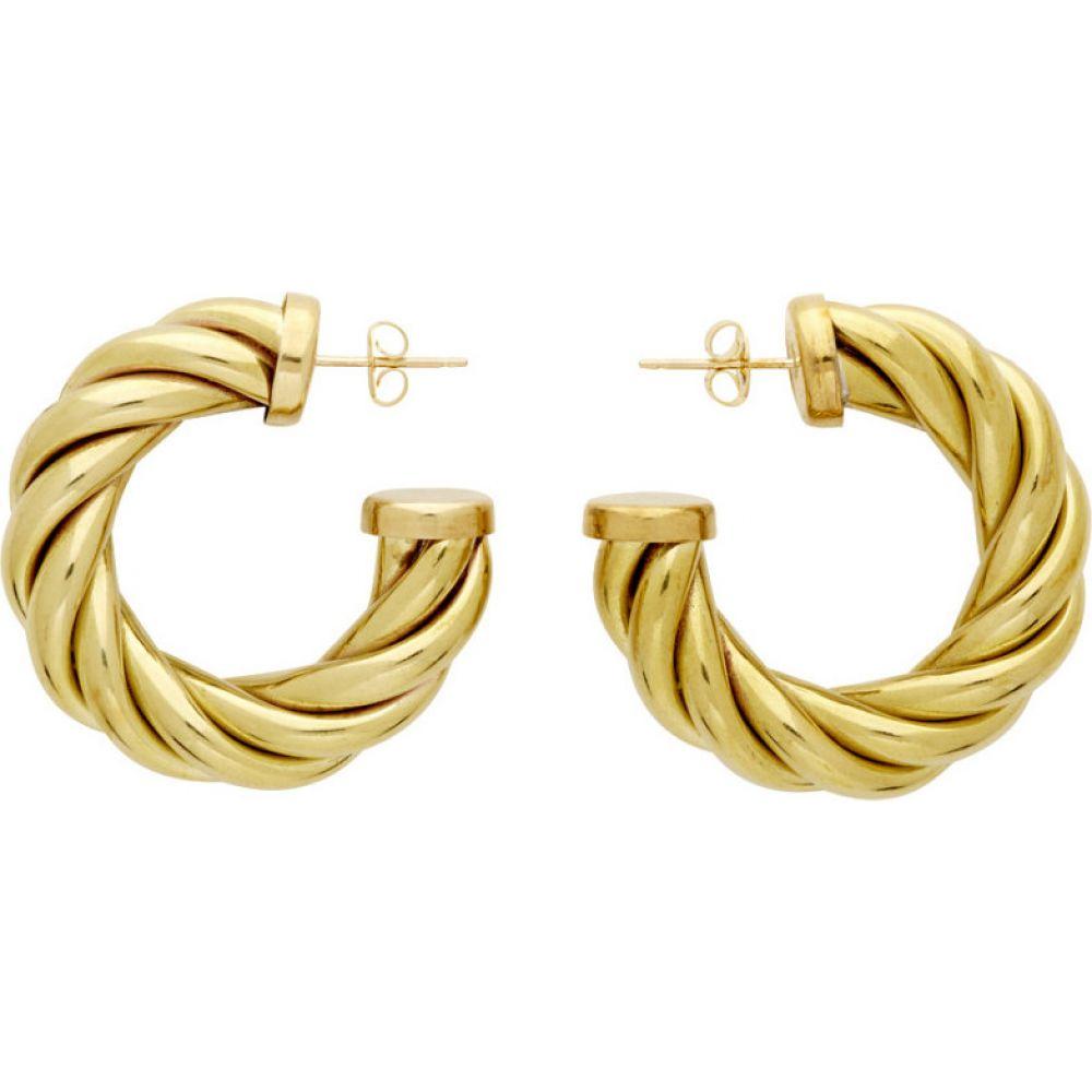 ローラロンバルディ Laura Lombardi レディース イヤリング・ピアス ジュエリー・アクセサリー【Gold Large Spira Hoop Earrings】Brass