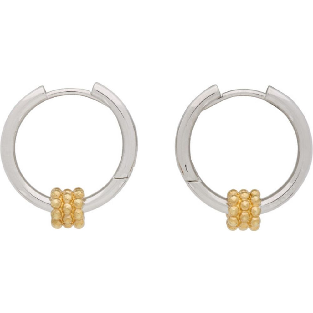 Avgvst Jewelry レディース イヤリング・ピアス ジュエリー・アクセサリー【Silver & Gold Beaded Pendant Hoop Earrings】Gold/Silver