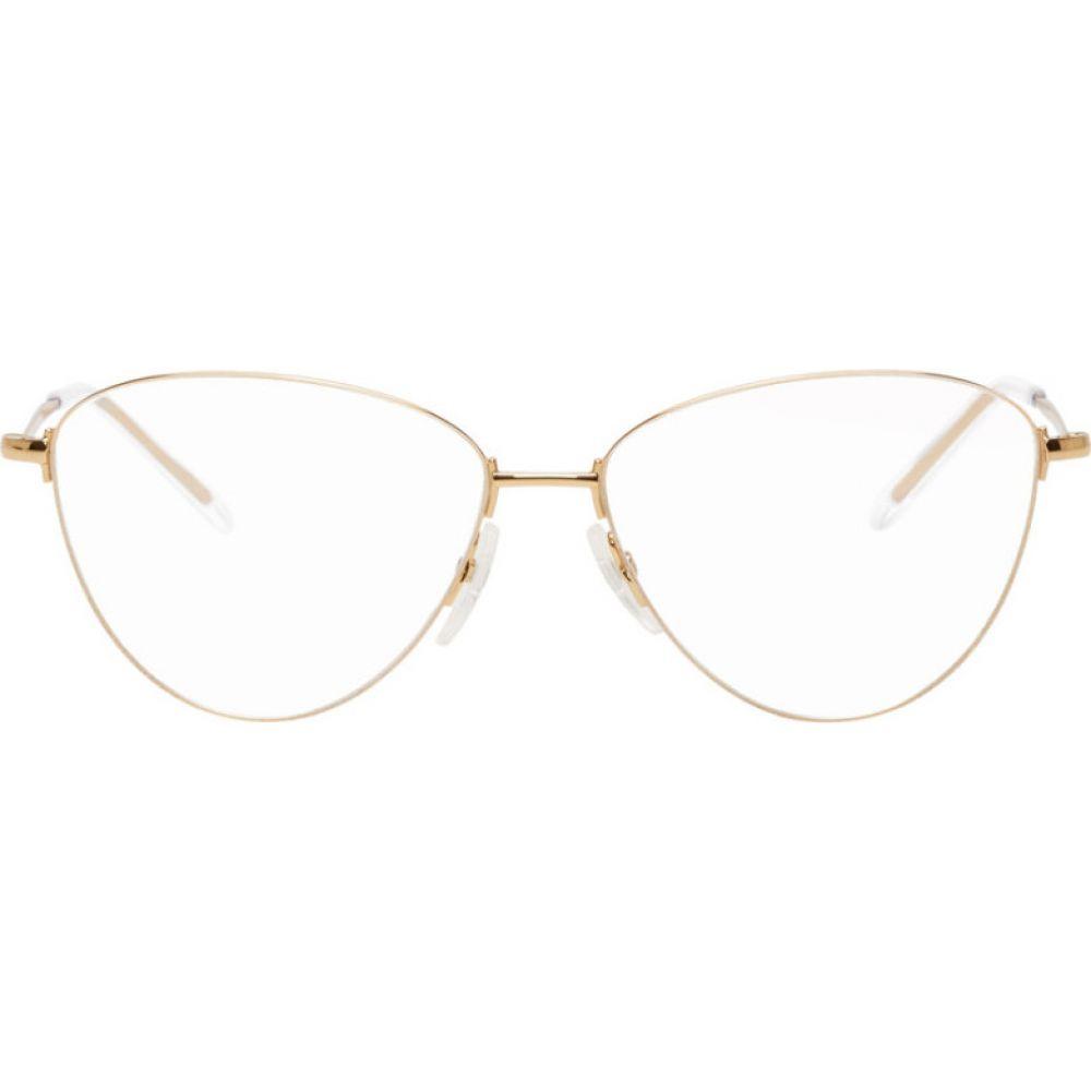 バレンシアガ Balenciaga レディース メガネ・サングラス 【Gold BB0034O Glasses】Gold