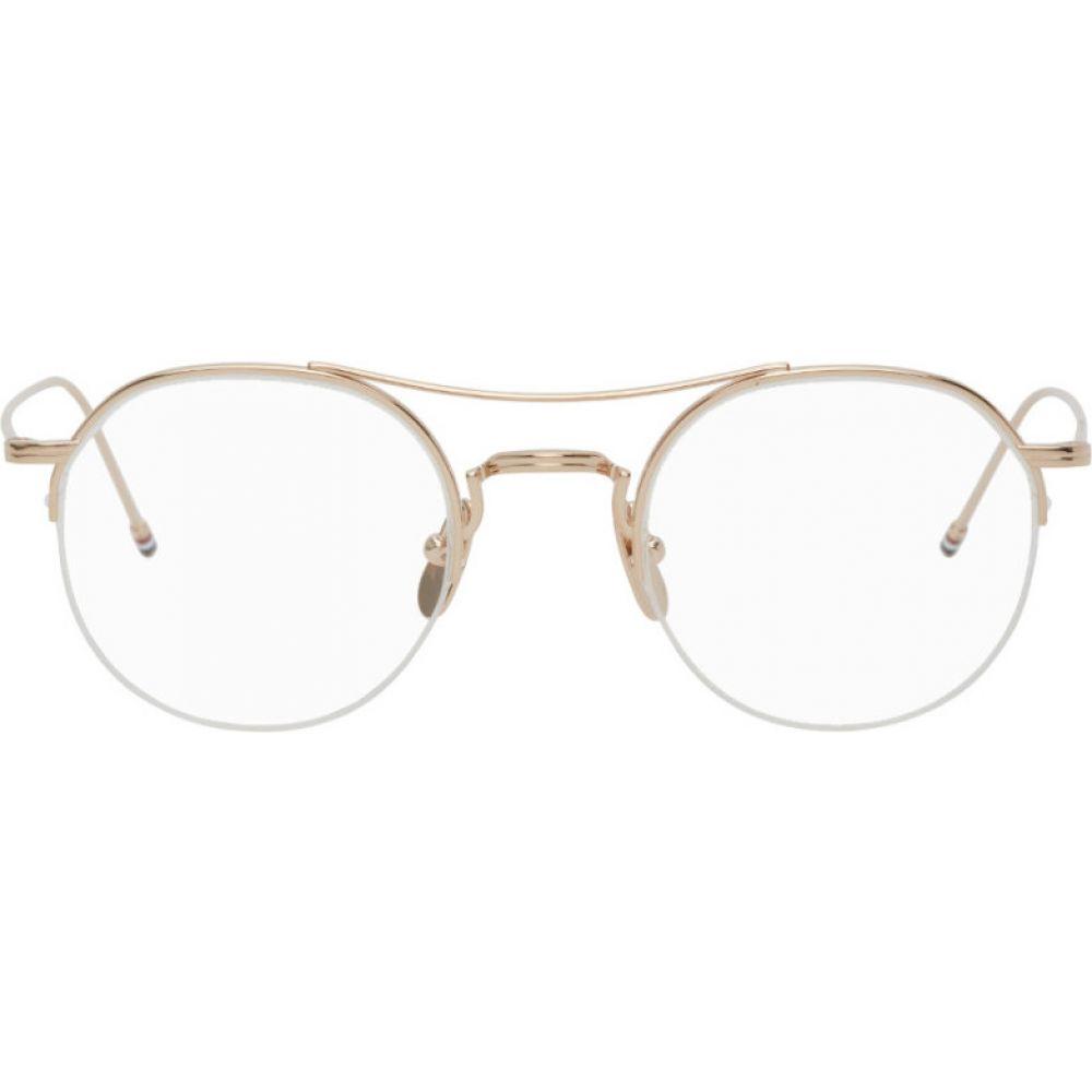 トム ブラウン Thom Browne レディース メガネ・サングラス 【Gold TB-903 Glasses】Gold