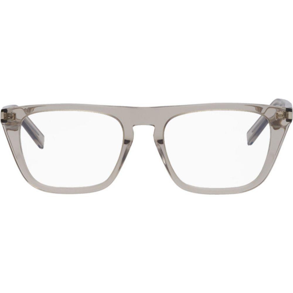 イヴ サンローラン Saint Laurent レディース メガネ・サングラス 【Beige SL 343 Glasses】Beige