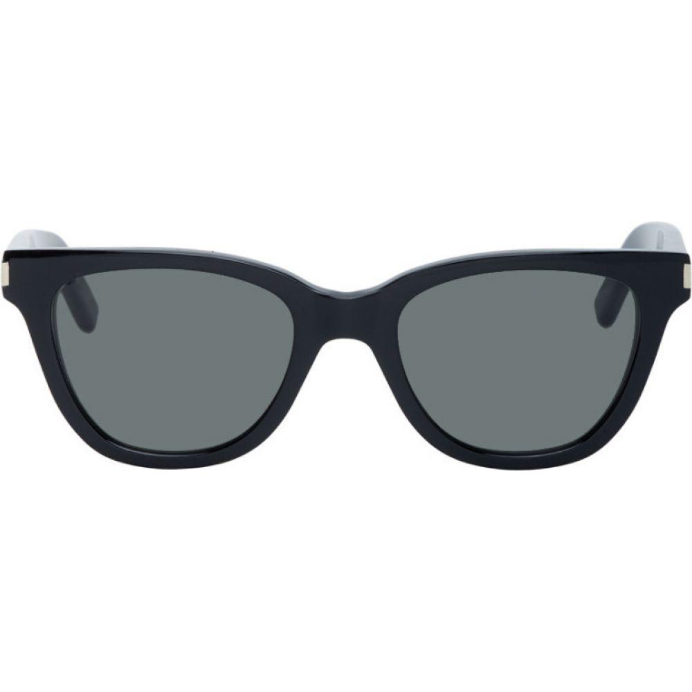 イヴ サンローラン Saint Laurent レディース メガネ・サングラス 【Black Small SL 51 Sunglasses】Black