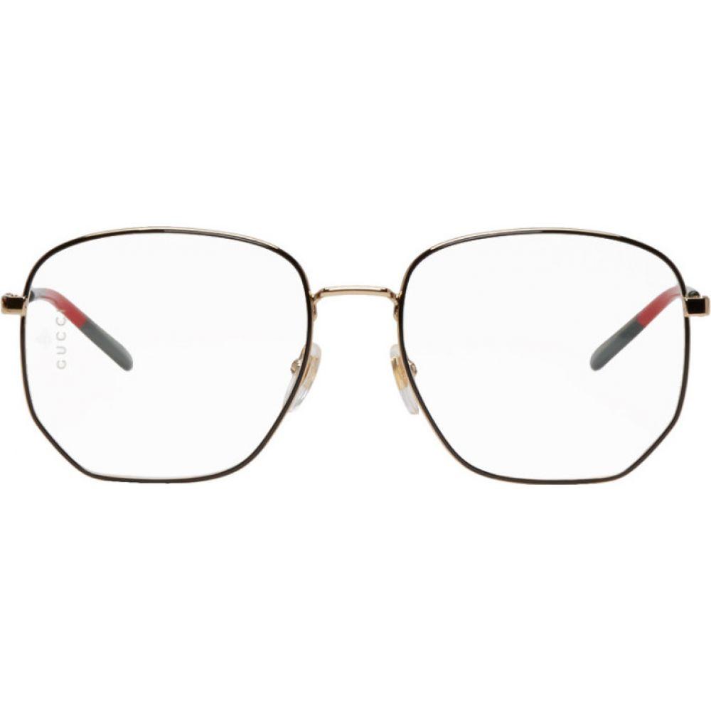 グッチ Gucci レディース メガネ・サングラス 【Gold Octagonal Glasses】Gold/Gold/Transparent