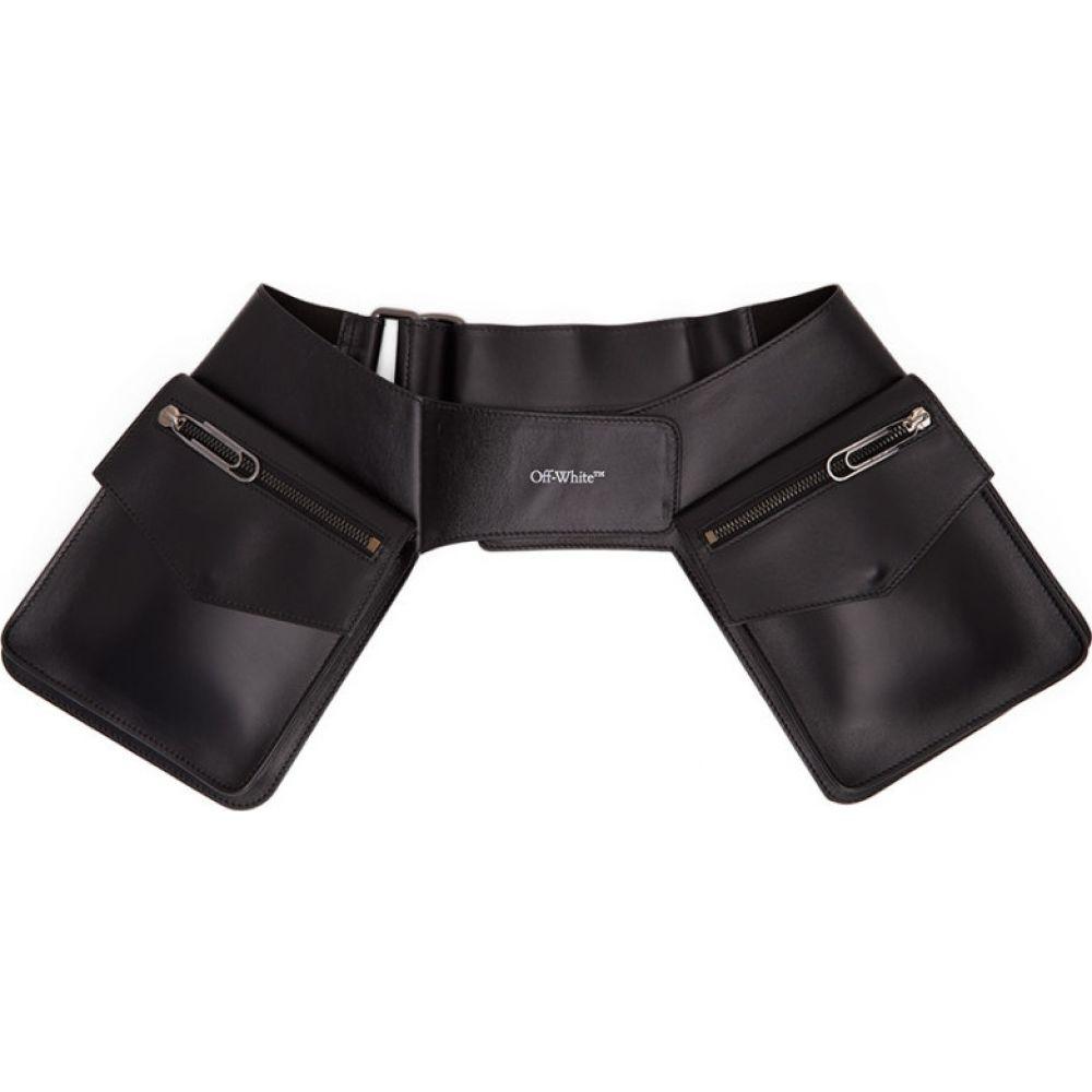 オフホワイト Off-White レディース ボディバッグ・ウエストポーチ バッグ【Black Pouch Belt Bag】Black