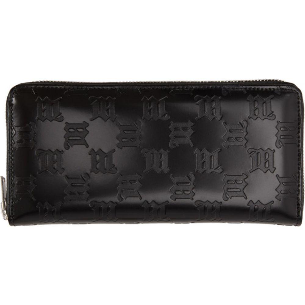 ミスビヘイブ MISBHV レディース 財布 【Black Embossed Monogram Continental Wallet】Black