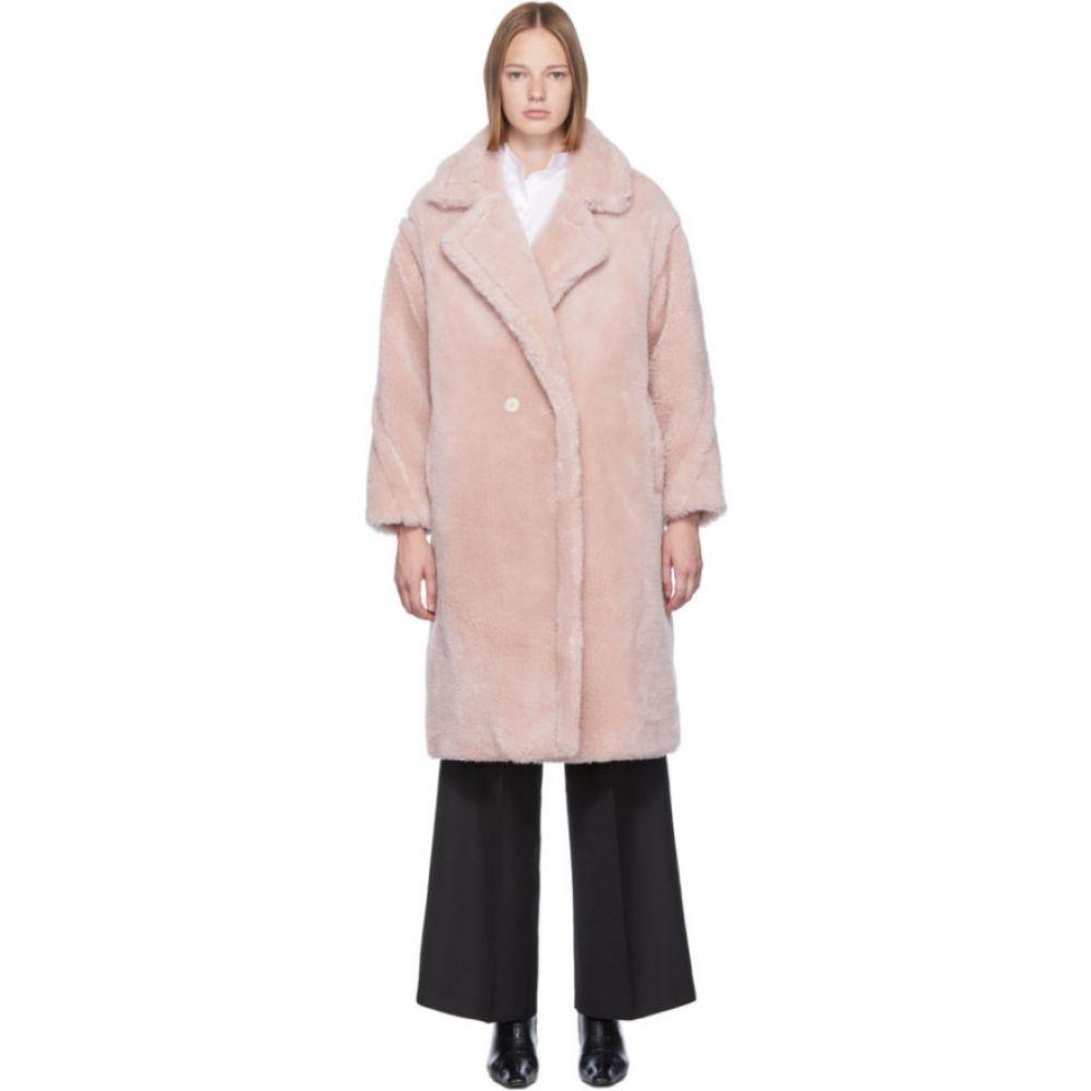 イヴ サロモン Yves Salomon - Meteo レディース コート アウター【Pink Woven Wool Coat】Pink