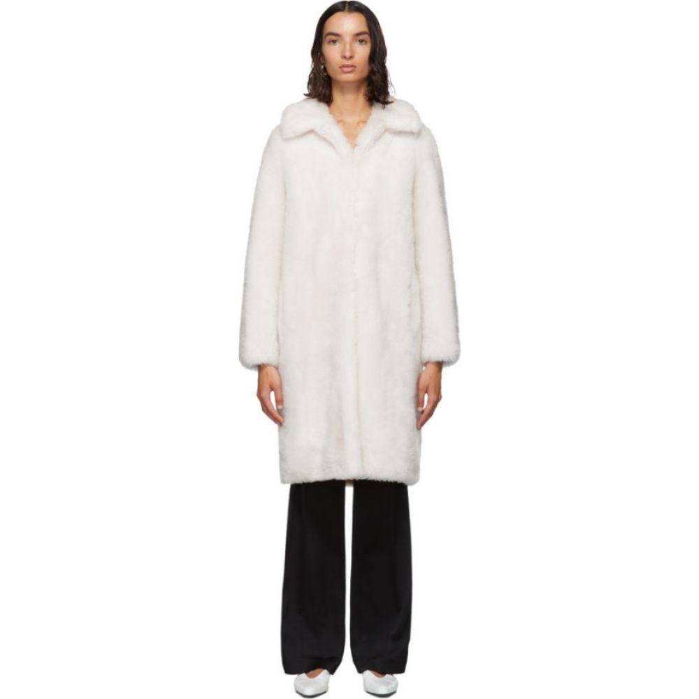 イヴ サロモン Yves Salomon - Meteo レディース コート アウター【White Lamb Wool Coat】Ivory