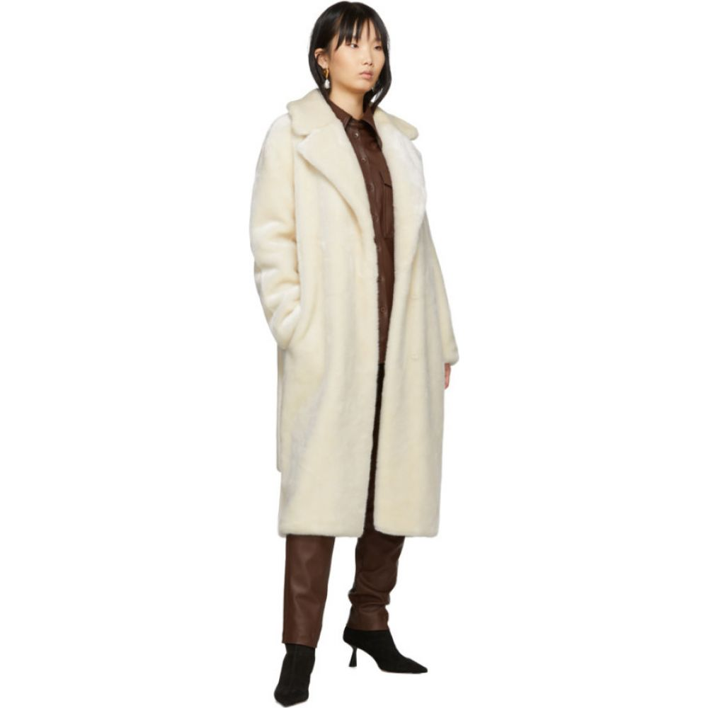 ティビ Tibi レディース コート アウター Off White Faux Fur Oversized Luxe Coat CreamVqSGzMpU