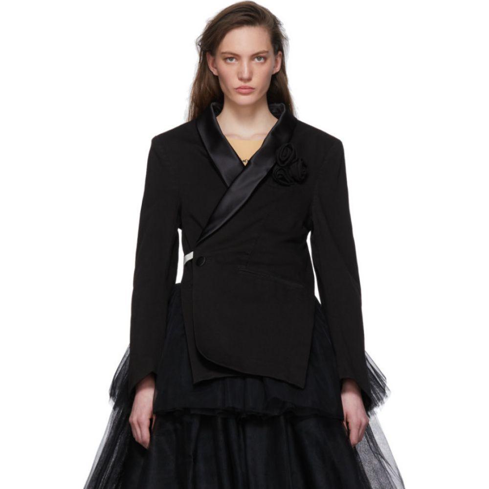 メゾン マルジェラ MM6 Maison Margiela レディース スーツ・ジャケット アウター【Black Denim Wrap Blazer】Black