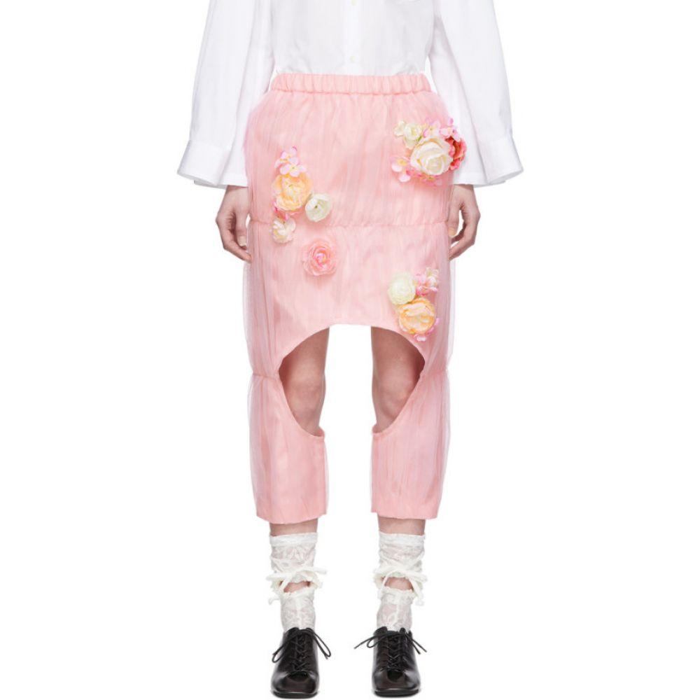 コム デ ギャルソン Comme des Garcons レディース ひざ丈スカート スカート【Pink Tulle Flowers Skirt】Pink