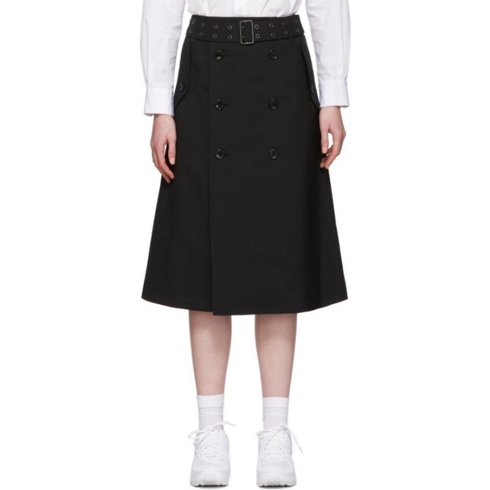 ジュンヤ ワタナベ Junya Watanabe レディース ひざ丈スカート スカート【Black Tropical Wool Trench Skirt】Black
