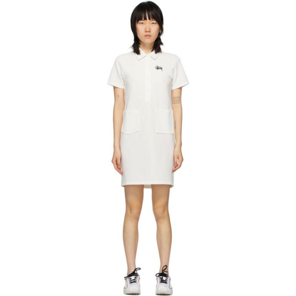 ステューシー Stussy レディース ワンピース ワンピース・ドレス【White Knit Poly Dress】White