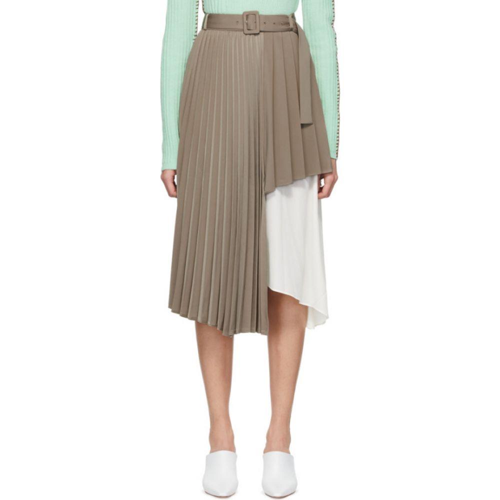 アンダースン ベル Andersson Bell レディース ひざ丈スカート スカート【Beige Melanie Double Layered Skirt】Beige