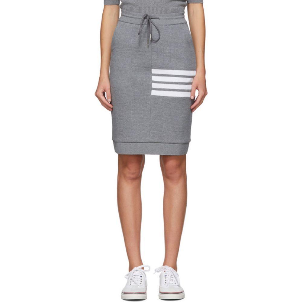 トム ブラウン Thom Browne レディース ひざ丈スカート スカート【Grey 4-Bar Sack Skirt】Medium grey