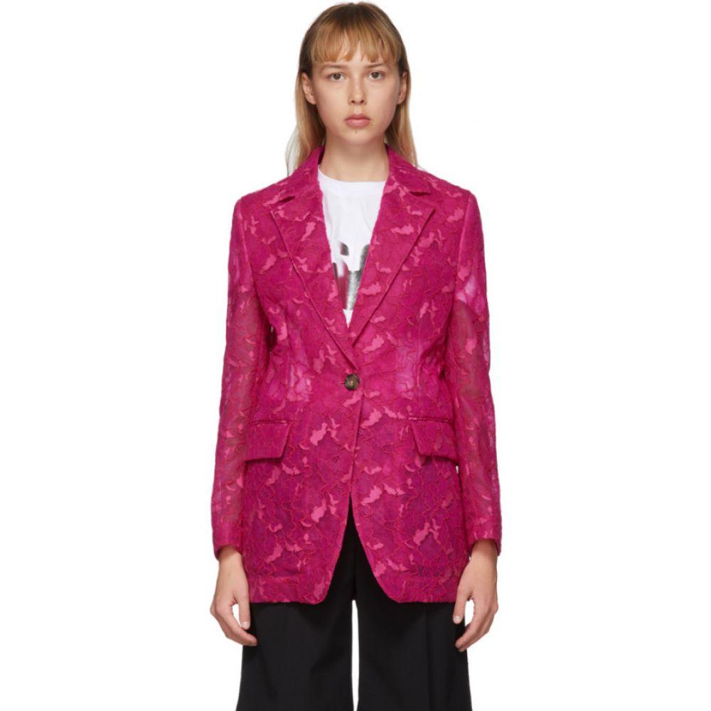エムエスジーエム MSGM レディース スーツ・ジャケット アウター【Pink Lace Blazer】Fuchsia