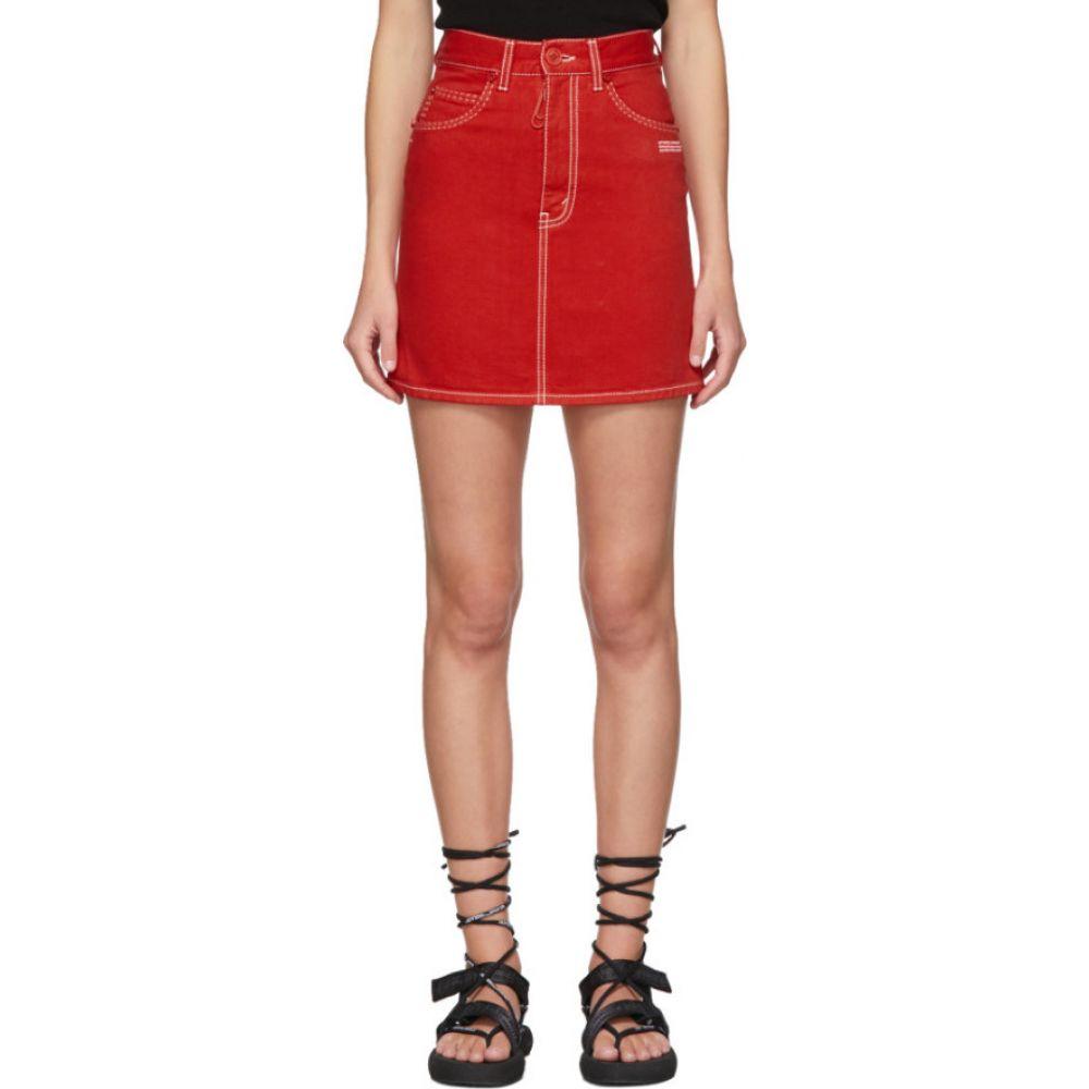 オフホワイト Off-White レディース ミニスカート スカート【Red Denim Miniskirt】Red